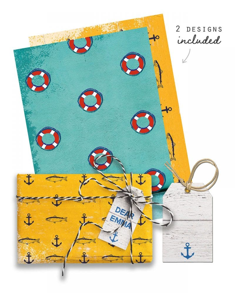 Beach party Giftwrap Party Favor Bundle Printable Collette and Co 1
