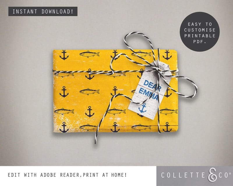 Beach party Giftwrap Party Favor Bundle Printable Collette and Co 5