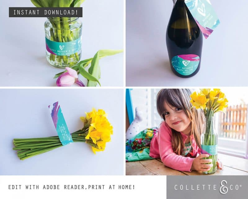 Mothers Day Labels Printable Collette and Co 2