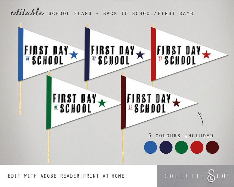 Printable Back to School Sign Pack Editable Collette and Co 10