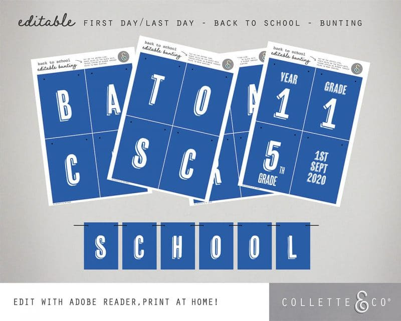 Printable Back to School Sign Pack Editable Collette and Co 14