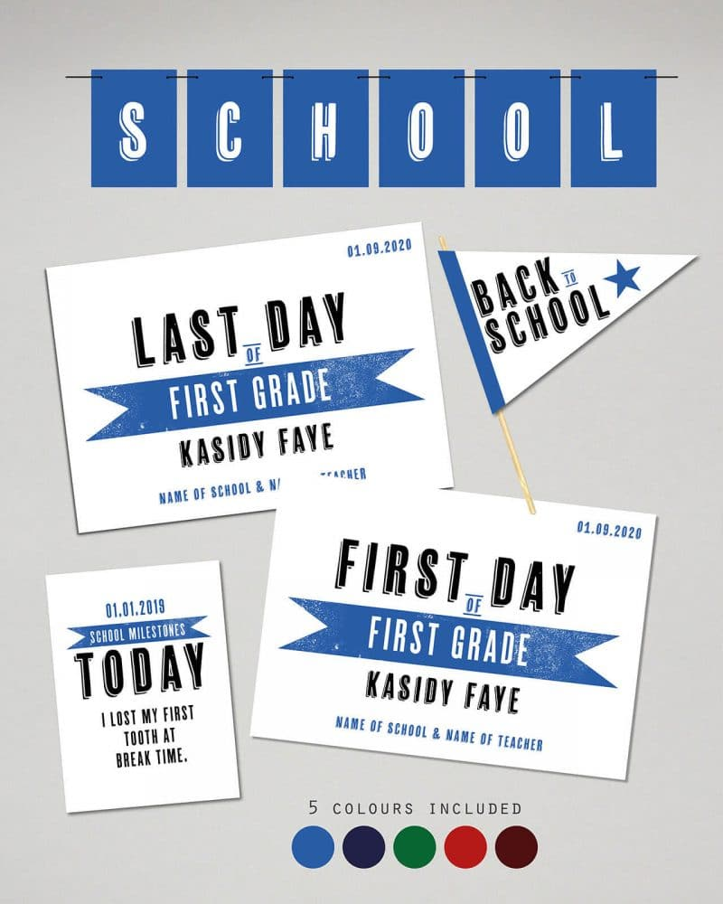 Printable Back to School Sign Pack Editable Collette and Co 16