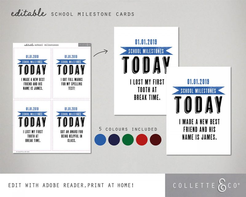 Printable Back to School Sign Pack Editable Collette and Co 3
