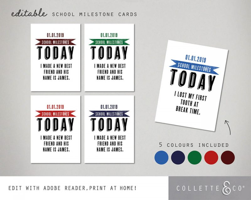 Printable Back to School Sign Pack Editable Collette and Co 5