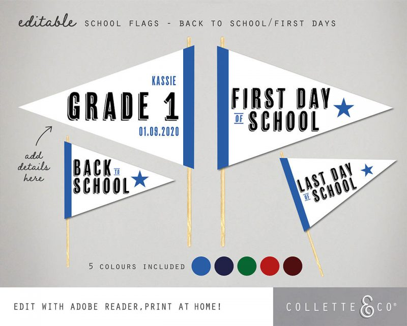 Printable Back to School Sign Pack Editable Collette and Co 8