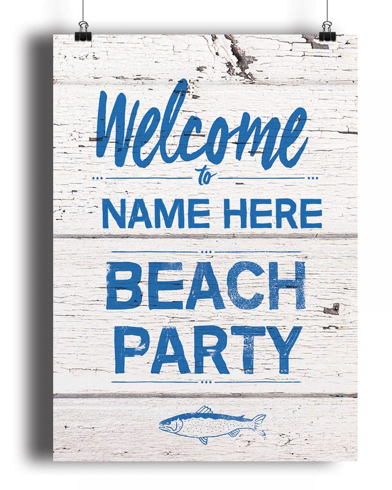 Printable Beach Party Poster Pack x4 Editable Collette and Co 4