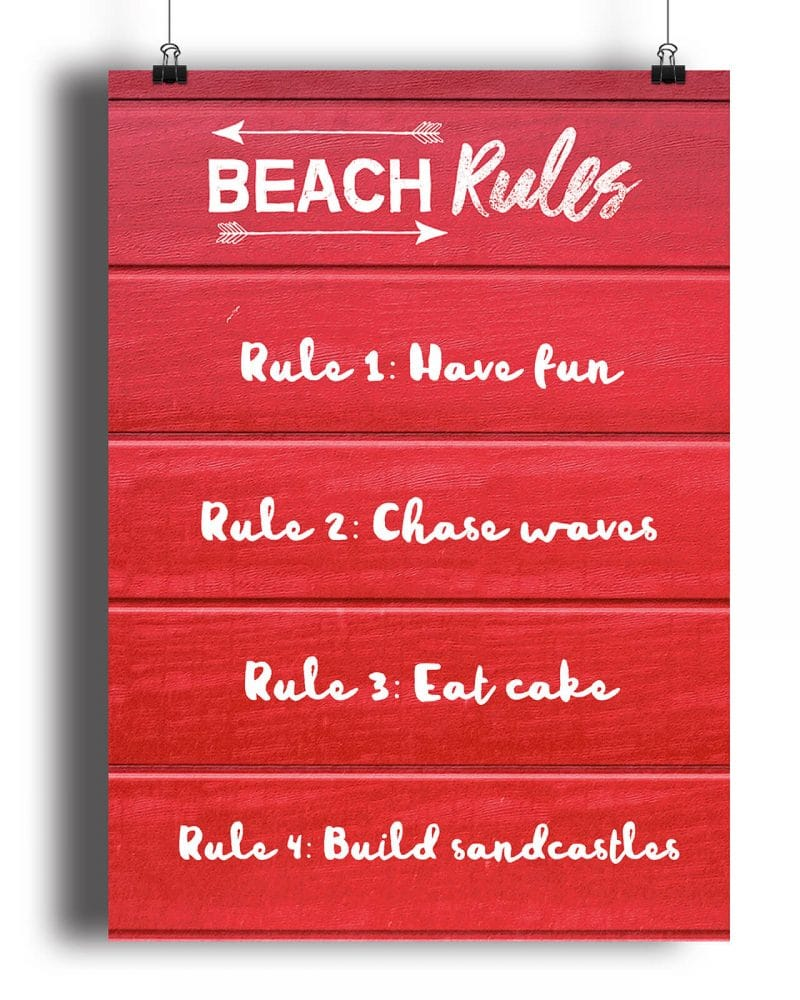 Printable Beach Party Poster Pack x4 Editable Collette and Co 5