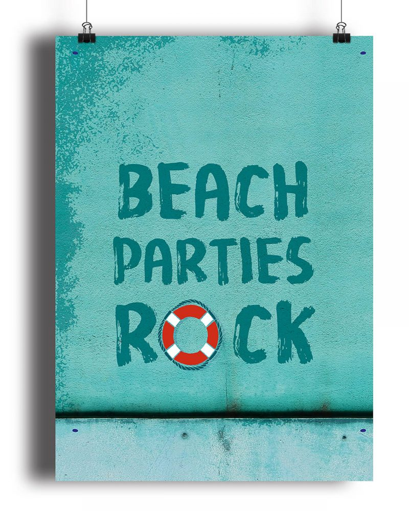 Printable Beach Party Poster Pack x4 Editable Collette and Co 6