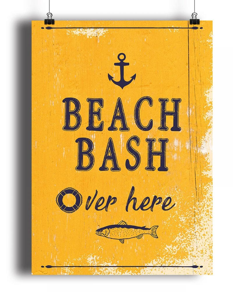 Printable Beach Party Poster Pack x4 Editable Collette and Co 7