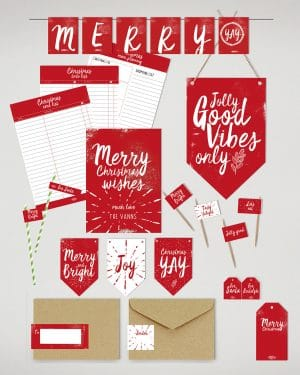 Printable Christmas Decor Bundle Collette and Co 1