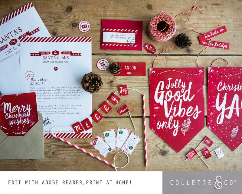 Printable Christmas Decor Bundle Collette and Co 11