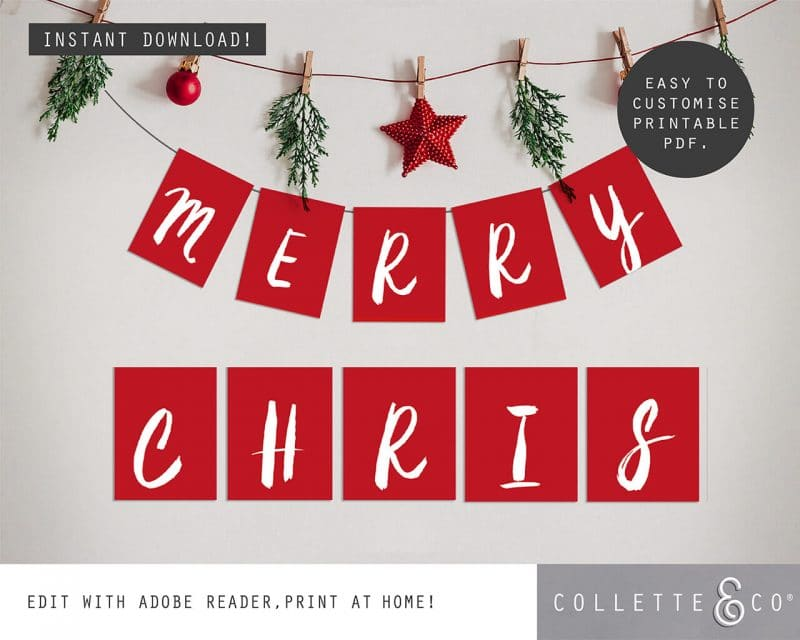 Printable Christmas Decor Bundle Collette and Co 19