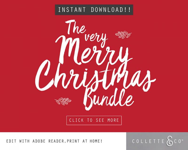 Printable Christmas Decor Bundle Collette and Co 2