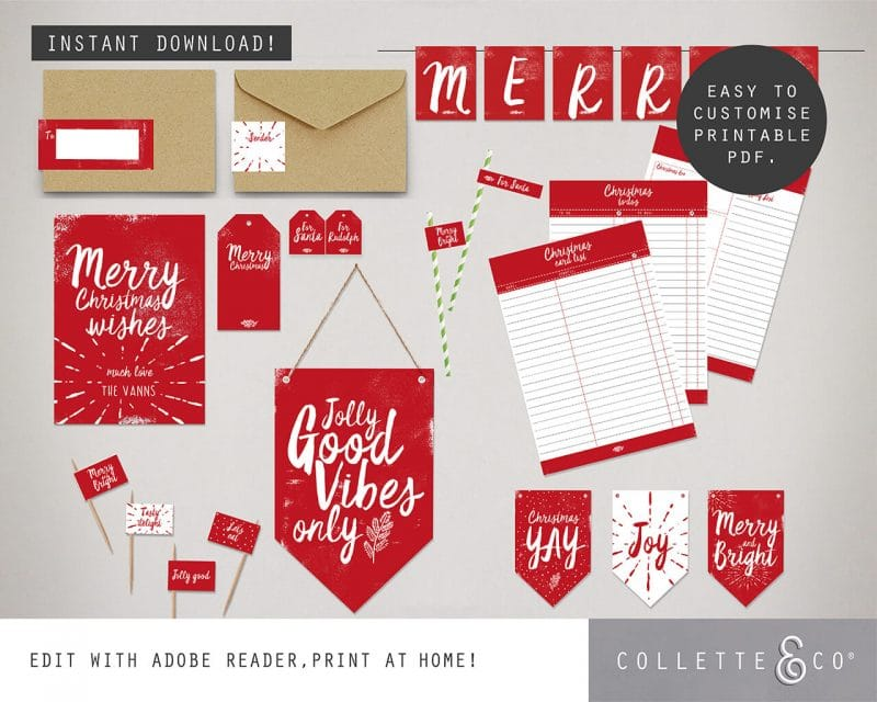 Printable Christmas Decor Bundle Collette and Co 4