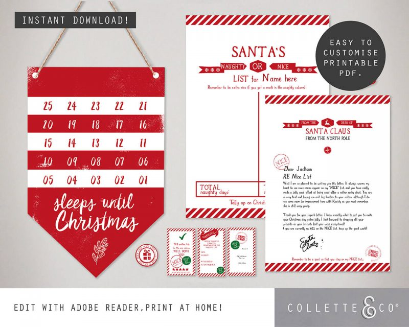 Printable Christmas Decor Bundle Collette and Co 5