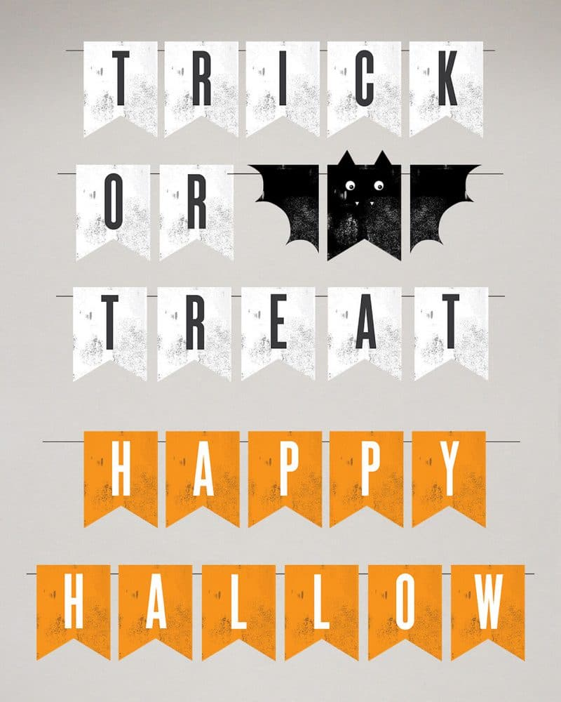 Printable Halloween Bunting Bat Design Collette and Co 1