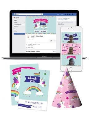 Unicorn Virtual Party Pack Collette and Co 1