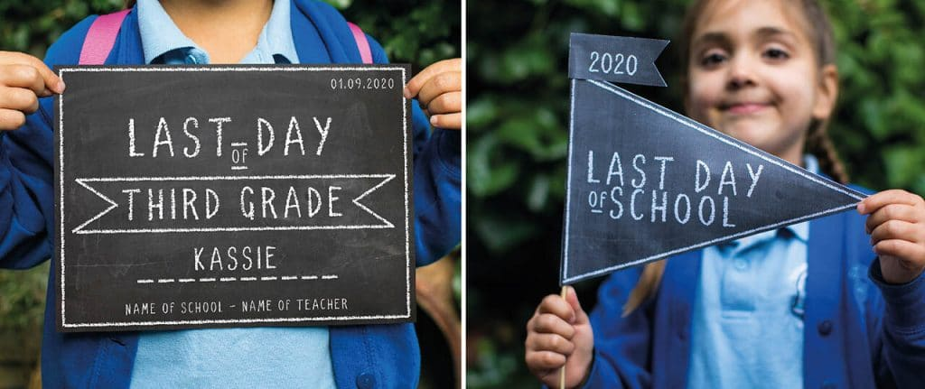 last day of third grade school sign