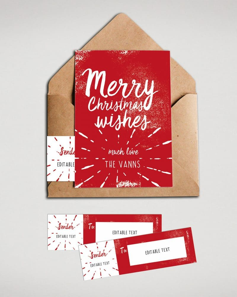 Christmas Cards Envelope Labels Editable Collette and Co 2