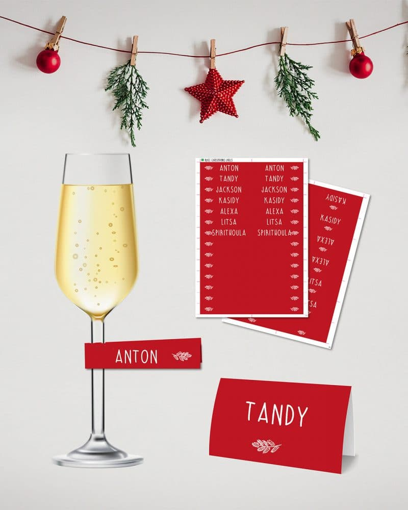 Christmas Dinner Party Printables Collette and Co 2