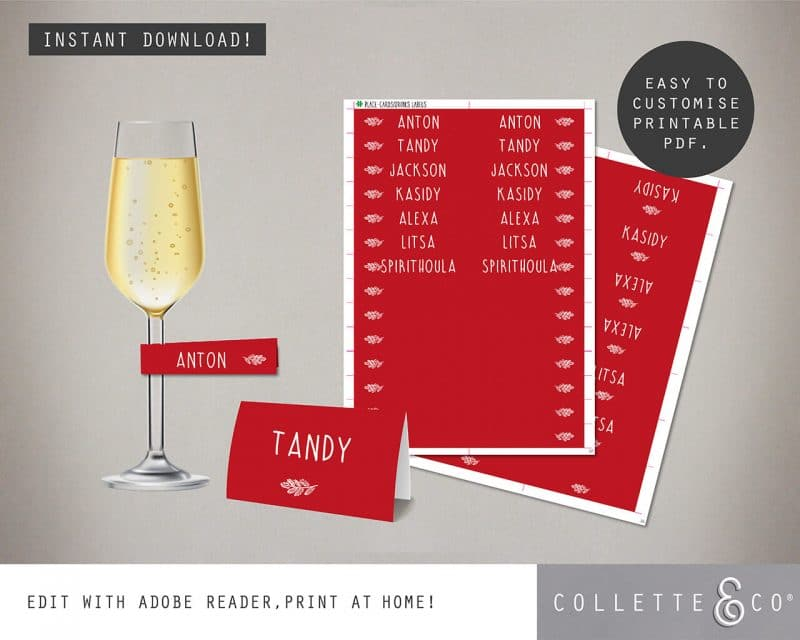 Christmas Dinner Party Printables Collette and Co 4