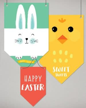 Easter Decor Banner Flags Collette and Co 10