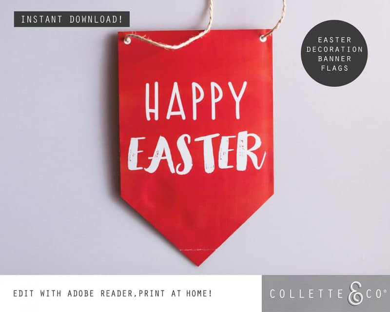 Easter Decor Banner Flags Collette and Co 2