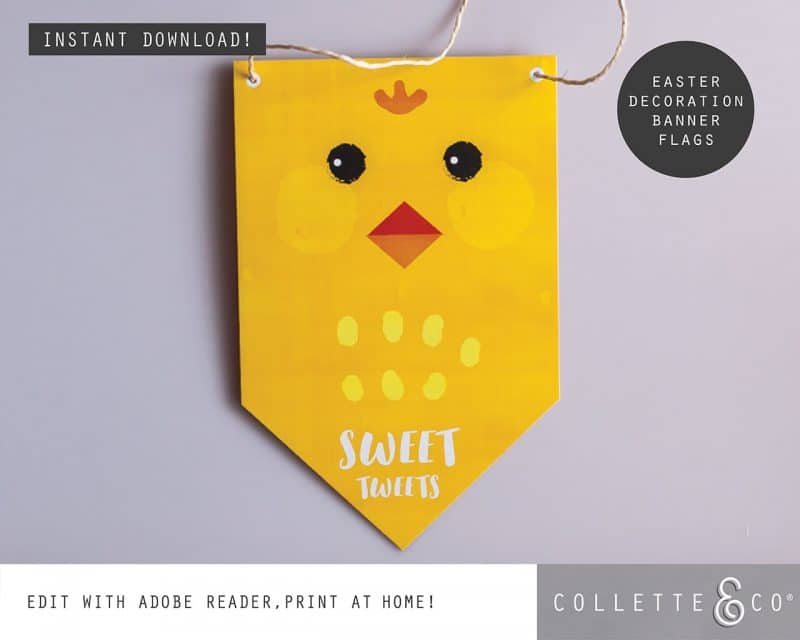 Easter Decor Banner Flags Collette and Co 3