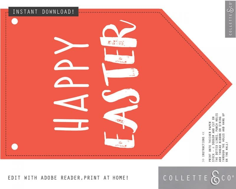 Easter Decor Banner Flags Collette and Co 8
