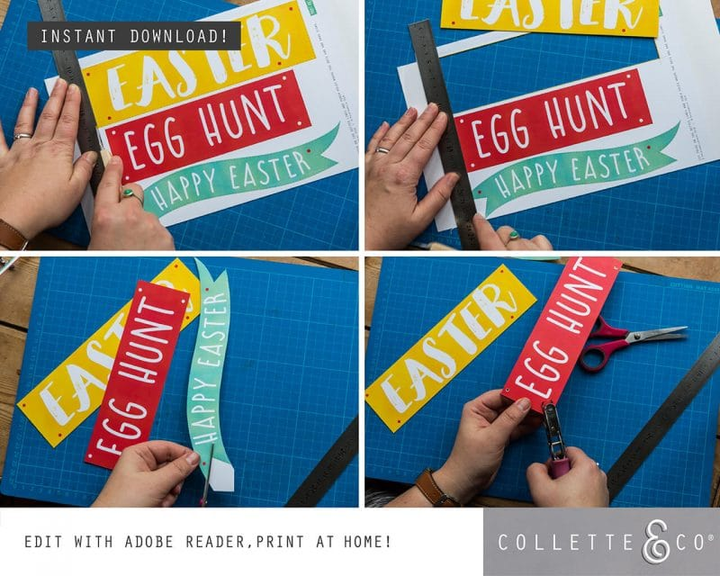 Easter Hunt Signs and Arrows Collette and Co 4