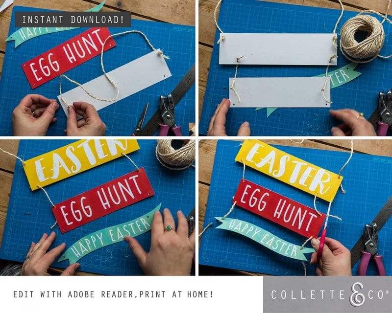 Easter Hunt Signs and Arrows Collette and Co 5