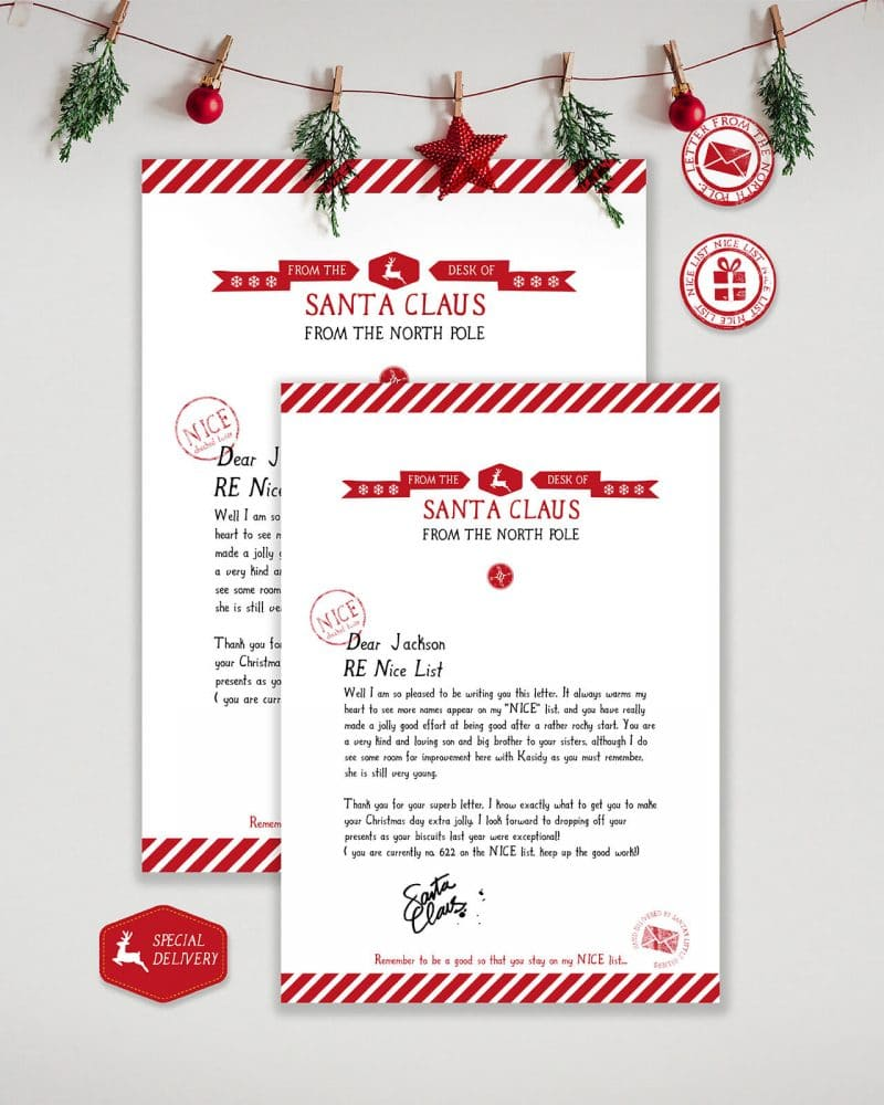 Letter from Santa Editable Collette and Co 2