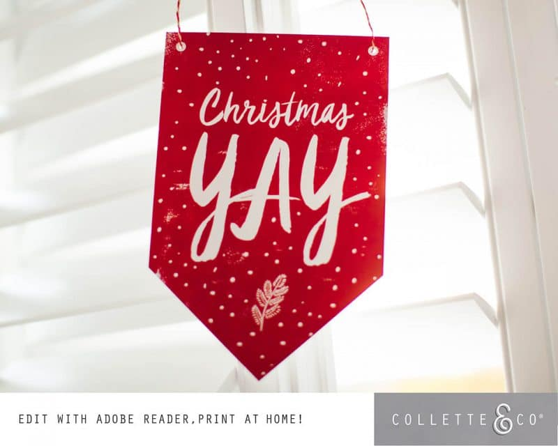 Printable Christmas Decor Banner Flags Collette and Co 2