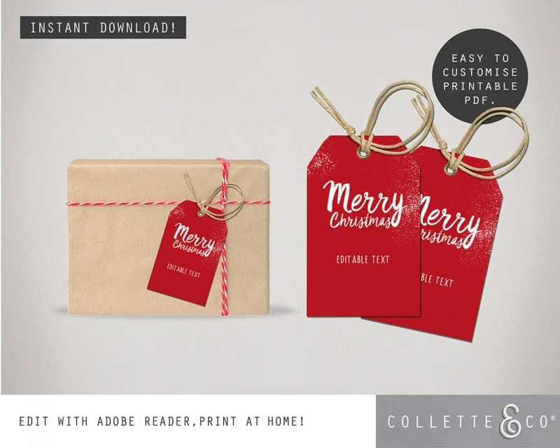 Printable Christmas Gift Tags Collette and Co 2