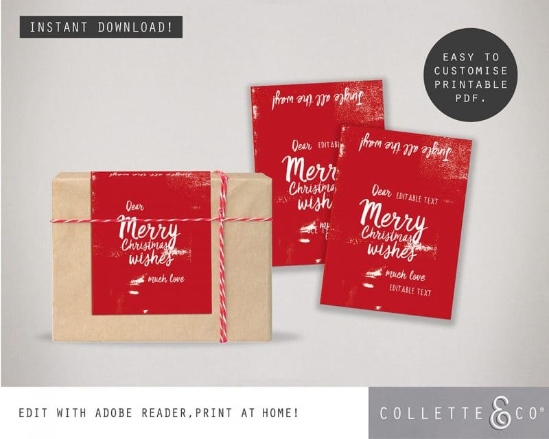 Printable Christmas Labels Collette and Co 1