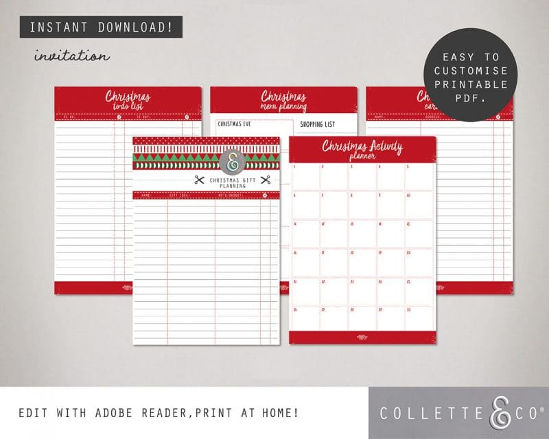 Printable Christmas Planner Collette and Co 2