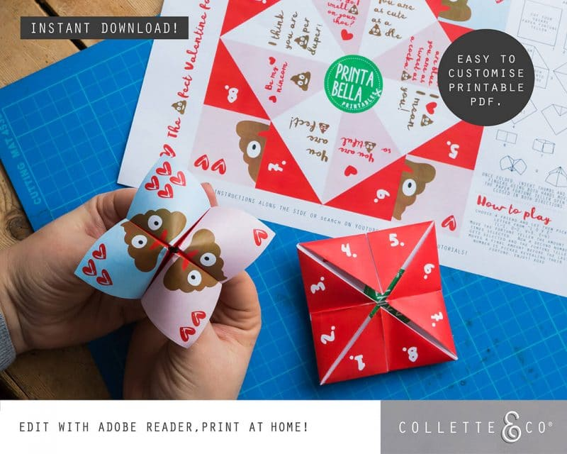 Valentines Day Bundle Editable Printable Collette and Co 16