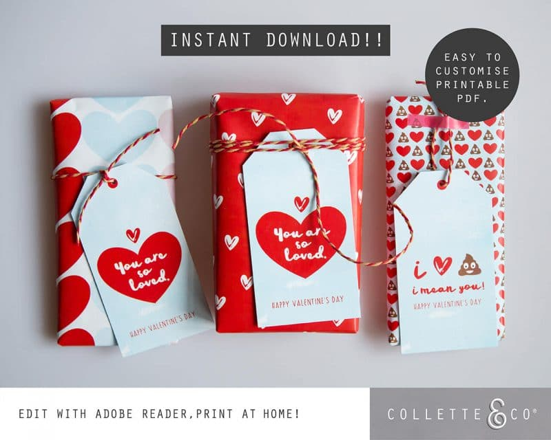 Valentines Day Bundle Editable Printable Collette and Co 19