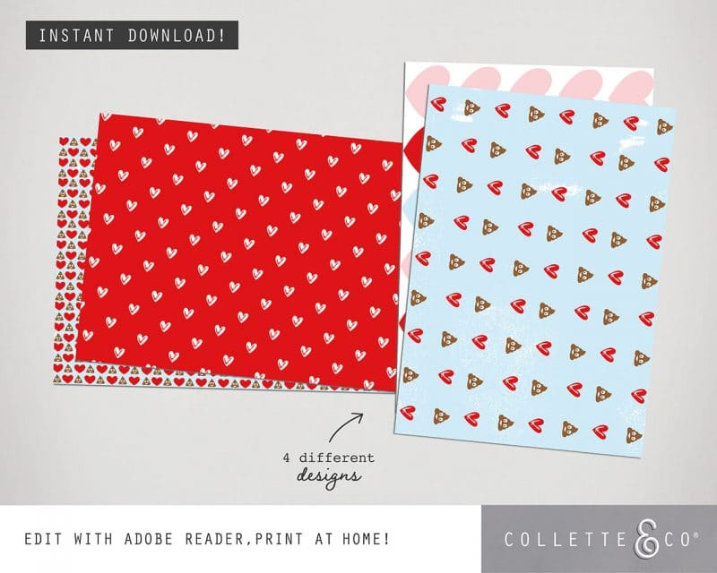 Valentines Day Bundle Editable Printable Collette and Co 22