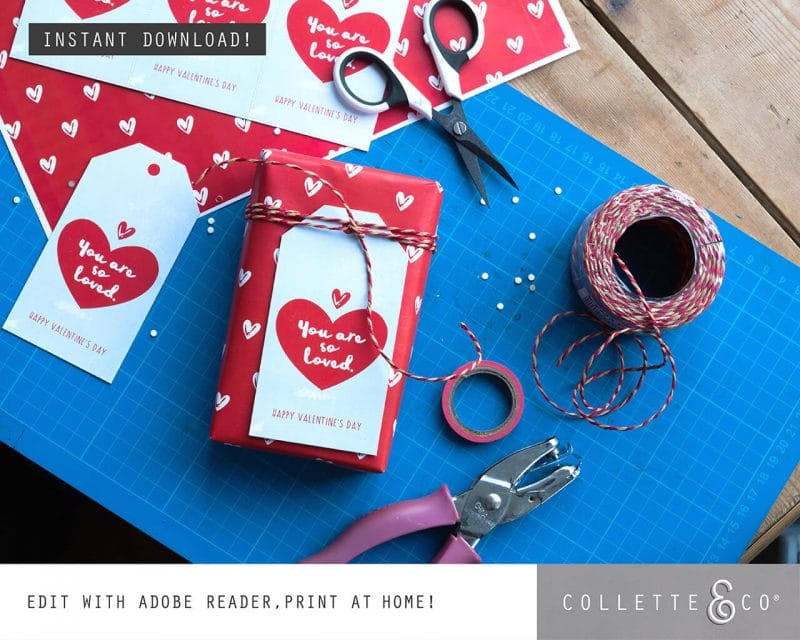 Valentines Day Bundle Editable Printable Collette and Co 24