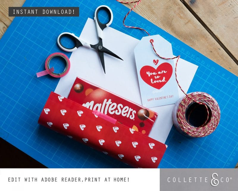 Valentines Day Bundle Editable Printable Collette and Co 25