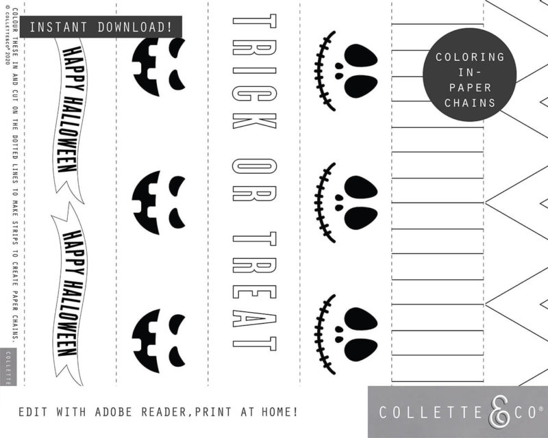 Halloween Paper Chains Printable 2