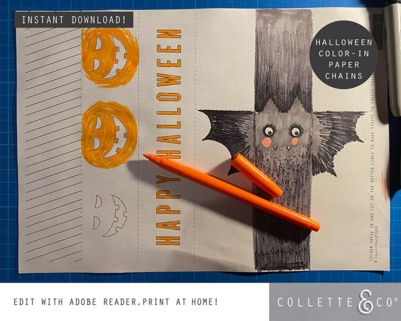 Halloween Paper Chains Printable 4