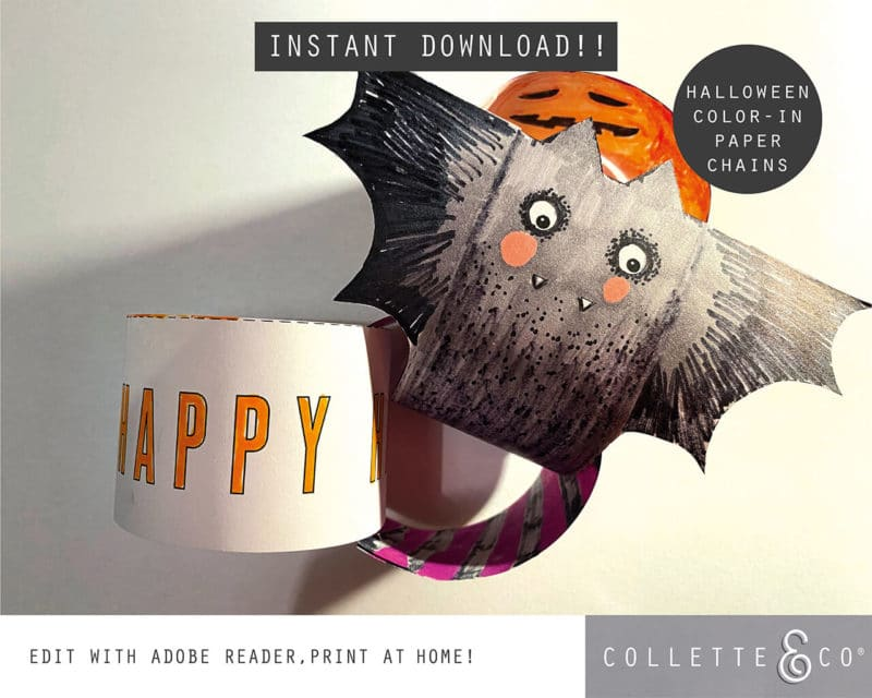Halloween Paper Chains Printable 5