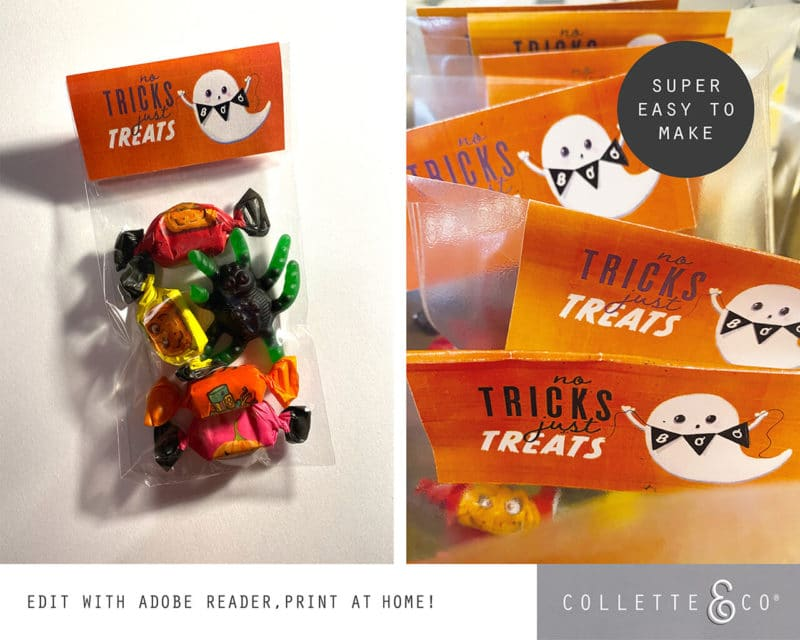 Halloween Party Favor Labels Printable 2