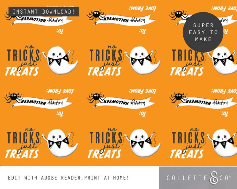 Halloween Party Favor Labels Printable 4