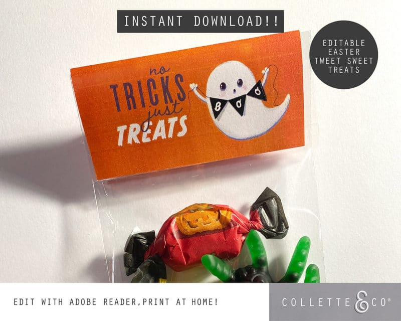 Halloween Party Favor Labels Printable 5