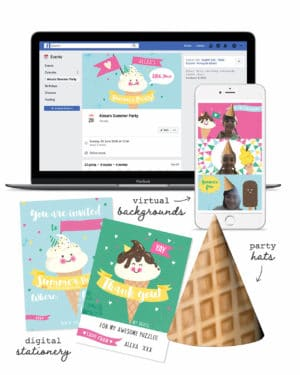 Ice Cream Virtual Party Pack Collette and Co 10