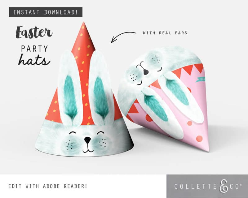 Easter Bunny Party Hat Printable Collette and co 2