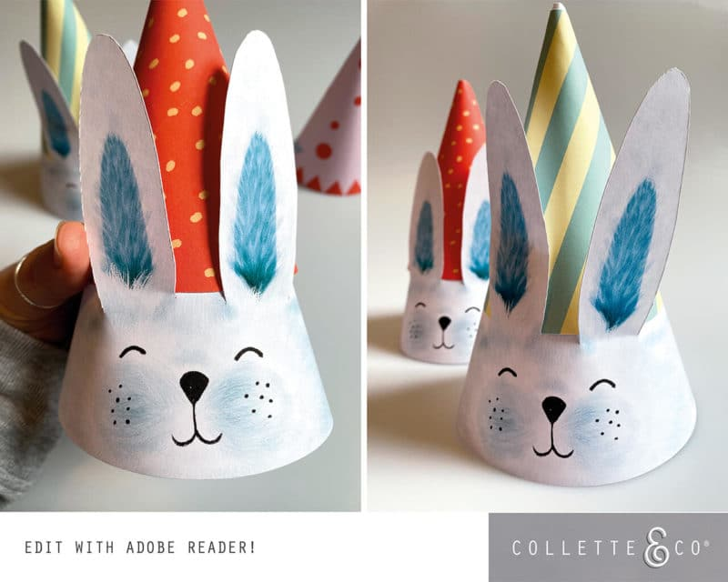 Easter Bunny Party Hat Printable Collette and co 3